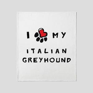 I *heart* My Italian Greyhoun Throw Blanket