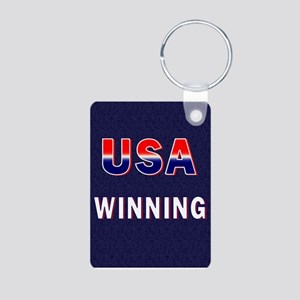 USA WINNING Aluminum Photo Keychain