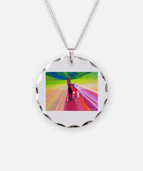 Funny Standardbred horse Necklace