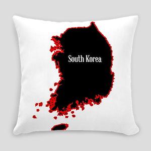 South Korea Silhouette Everyday Pillow