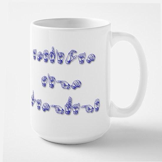AMERICAN SIGN LANGUAGE Large Mug