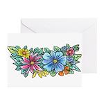 Flower Spray #1 Greeting Cards (Pk of 10)