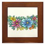 Flower Spray #1 Framed Tile