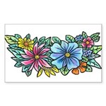 Flower Spray #1 Sticker (Rectangle)
