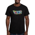Flower Spray #1 Men's Fitted T-Shirt (dark)