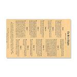 Bill Of Rights Car Magnet 20 X 12