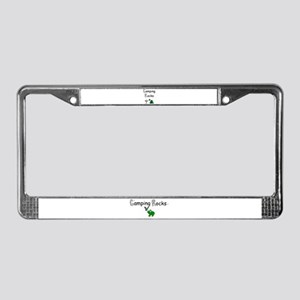 CAMPING ROCKS License Plate Frame