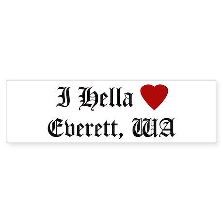 Hella Love Everett Bumper Sticker