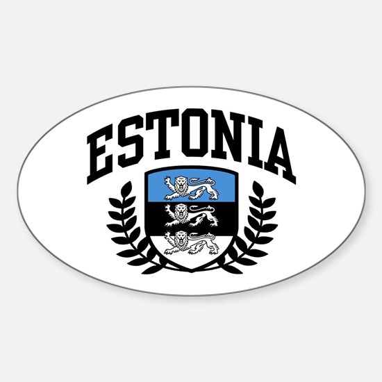 Estonia Sticker (Oval)