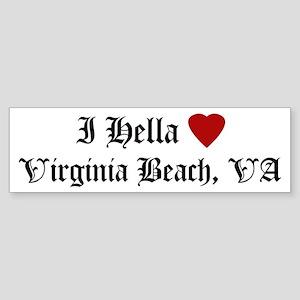 Hella Love Virginia Beach Bumper Sticker