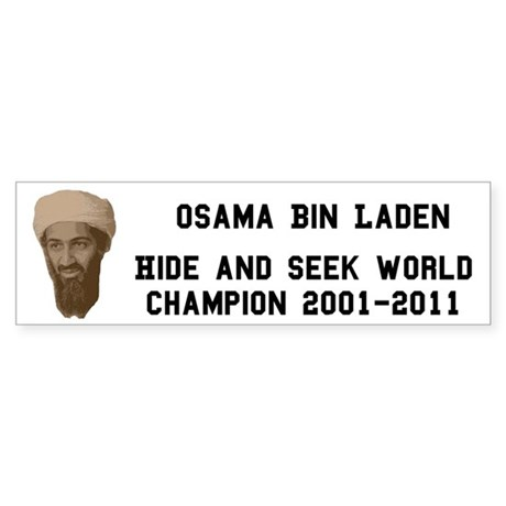 World Hide and Seek Champion Sticker (Bumper)