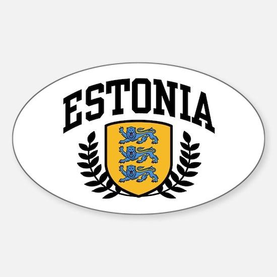 Estonia Sticker (Oval)