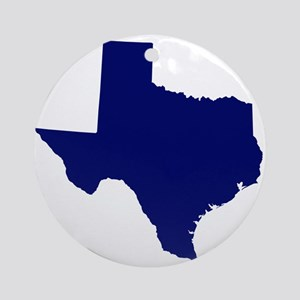 Texas - Blue Ornament (Round)
