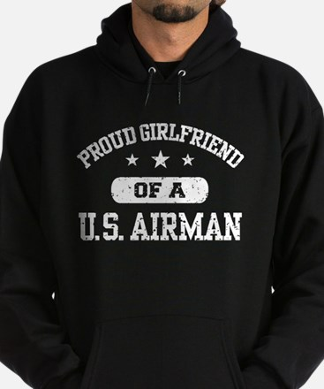 Proud Girlfriend of a US Airman Hoodie (dark)