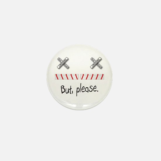 Railroad Crossing Mini Button