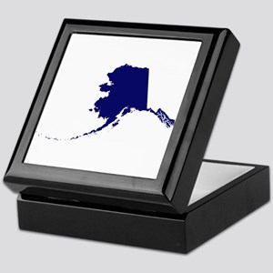 Alaska - Blue Keepsake Box