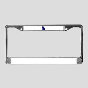 Georgia - Blue License Plate Frame