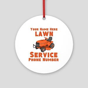 Lawn Service Round Ornament