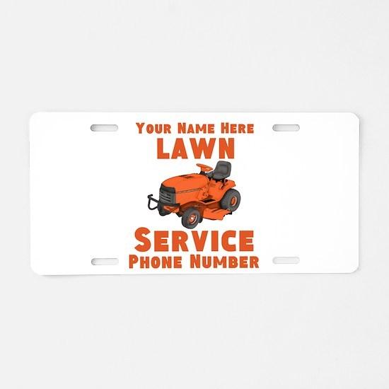Lawn Service Aluminum License Plate