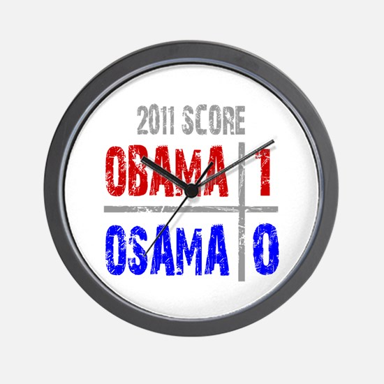 Obama 1 Osama 0 Wall Clock