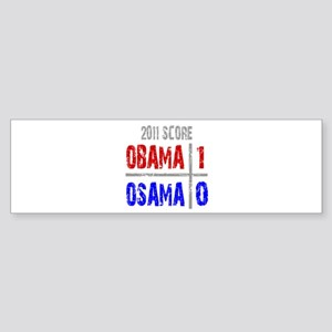Obama 1 Osama 0 Sticker (Bumper)