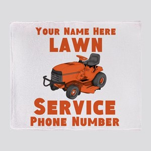 Lawn Service Throw Blanket