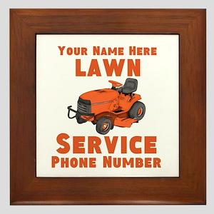Lawn Service Framed Tile