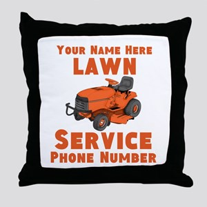 Lawn Service Throw Pillow