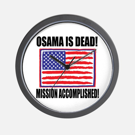Mission Accomplished Osama Dead Wall Clock
