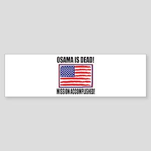 Mission Accomplished Osama Dead Sticker (Bumper)