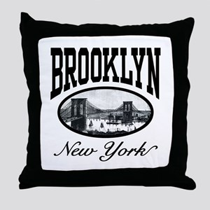 Brooklyn New York Throw Pillow