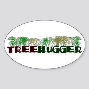 TREEHUGGER Oval Sticker