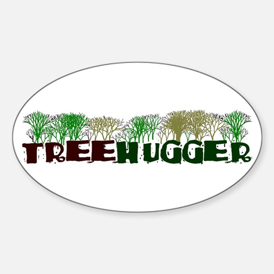 TREEHUGGER Oval Decal