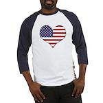 FlagHeartMedSz Baseball Jersey