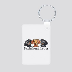 Dachshund Lover Aluminum Photo Keychain
