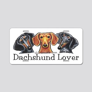 Dachshund Lover Aluminum License Plate