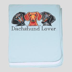 Dachshund Lover baby blanket