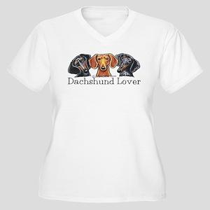 Dachshund Lover Women's Plus Size V-Neck T-Shirt