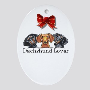 Dachshund Lover Ornament (Oval)
