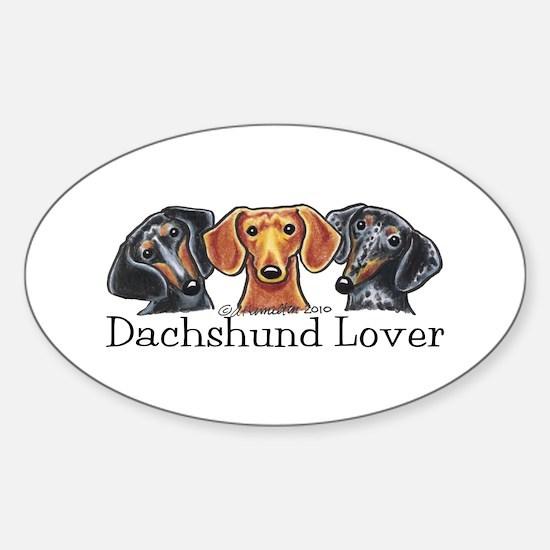 Dachshund Lover Sticker (Oval)