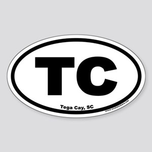 Tega Cay TC Euro Oval Sticker