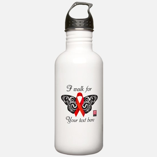 I Walk For Butterfly Water Bottle