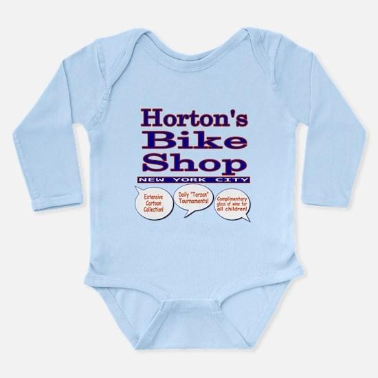 Horton's Bike Shop Long Sleeve Infant Bodysuit