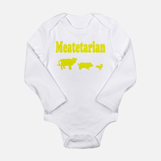 Meatetarian Long Sleeve Infant Bodysuit