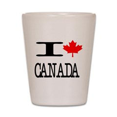 I Heart Canada Shot Glass