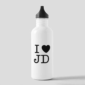 I Heart J.D. Stainless Water Bottle 1.0L