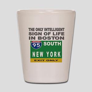 Boston Intelligence Shot Glass