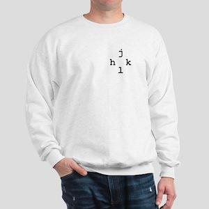 h-j-k-l vim navigation Sweatshirt