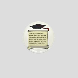 Class of 2011 Poem Mini Button
