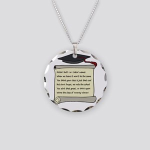 Class of 2011 Poem Necklace Circle Charm